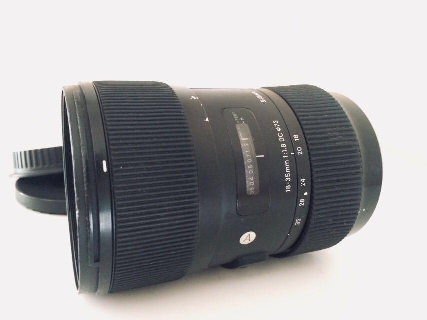 光学きれい★実用良品★SIGMA シグマ Art 18-35mm F 1.8 DC HSM Canon ★完動品★フード付き_画像2