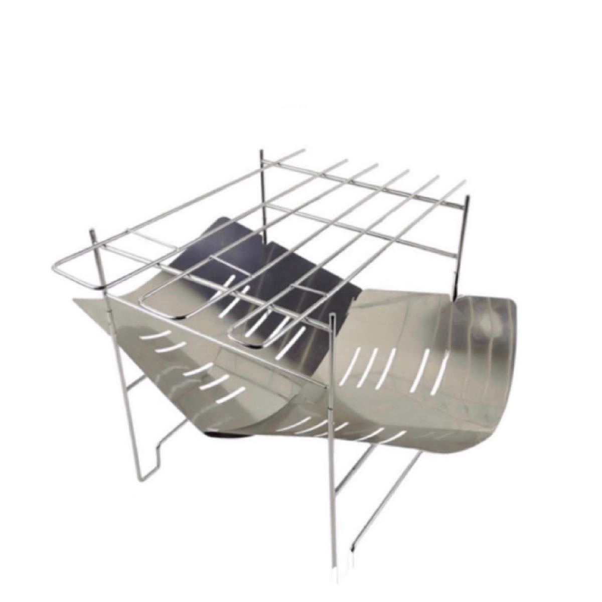 焚き火台 折り畳み式 バーベキューコンロ アウトドア スピット3本付  調理用品