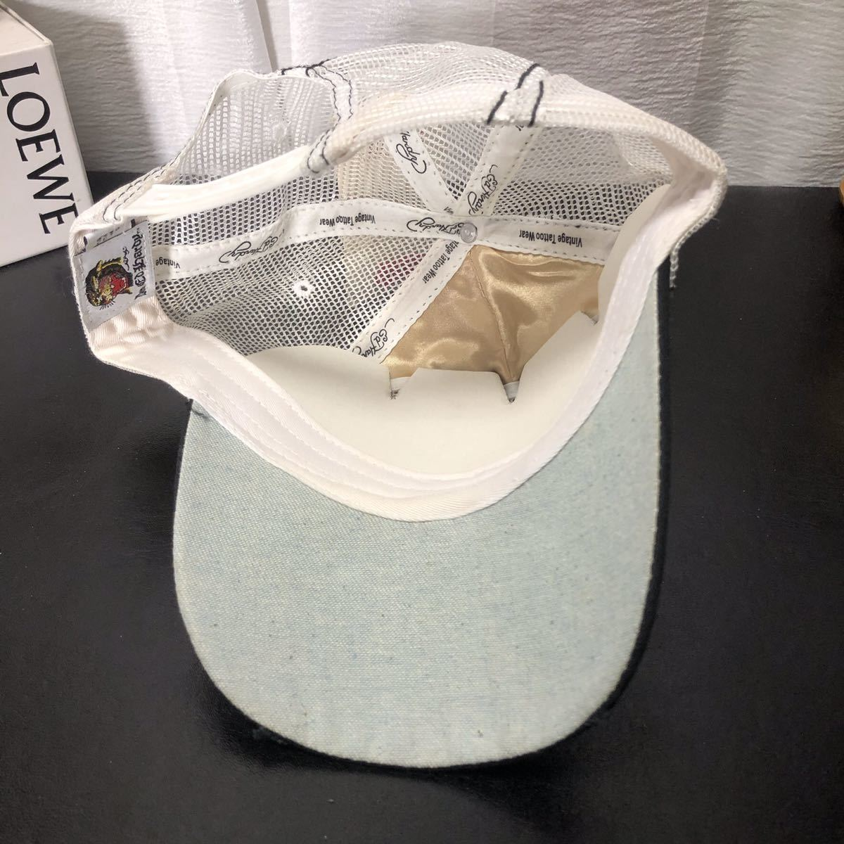 4 未使用 Ed Hardy エドハーディー 刺繍 キャップ 帽子_画像3
