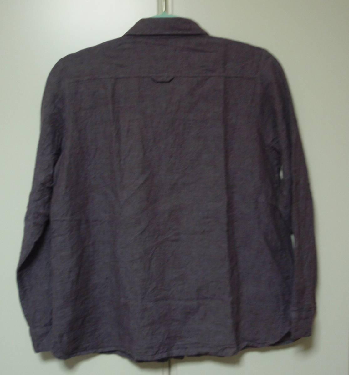 ◇Samansa Mos2 長袖ブラウス 麻74% 長袖シャツ F あずき色 サマンサモスモス_画像3