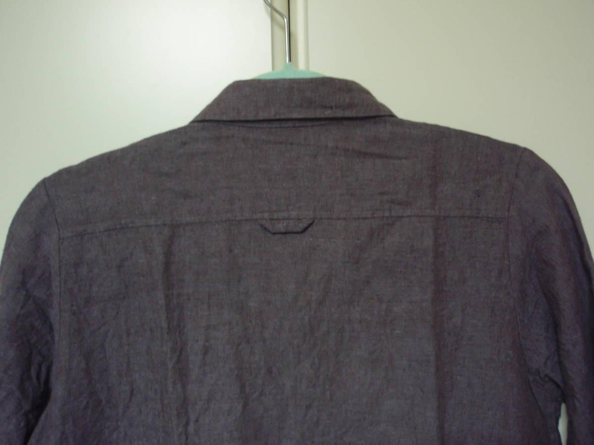◇Samansa Mos2 長袖ブラウス 麻74% 長袖シャツ F あずき色 サマンサモスモス_画像4
