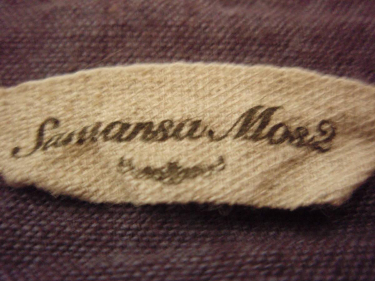 ◇Samansa Mos2 長袖ブラウス 麻74% 長袖シャツ F あずき色 サマンサモスモス_画像6