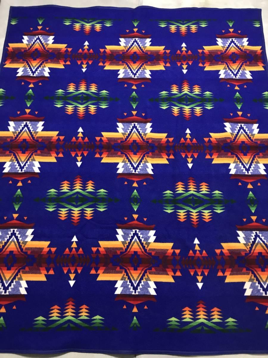 ★ 送料込み ペンドルトン PENDLETON INDIAN BLANKETS Beaver State チーフジョセフ柄ブランケット ナバホ ビンテージ アメリカ製 美品 ★
