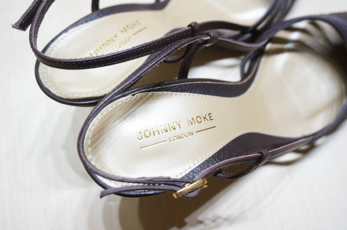 【S13-1N】JOHNNY MOKE ジョニーモーク レディース ミュール ブラウン サイズ34 ヒール約8cm_画像5