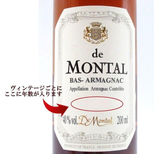 【★受注発注商品】 ド モンタル 1901 (木箱入り) ミニサイズ 40度 200ml_画像2