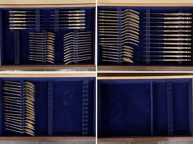 《芦》 Georg-Jensen ジョージ・ジェンセン エコーンデザイン スターリングシルバー カトラリー 7種×12本_画像10