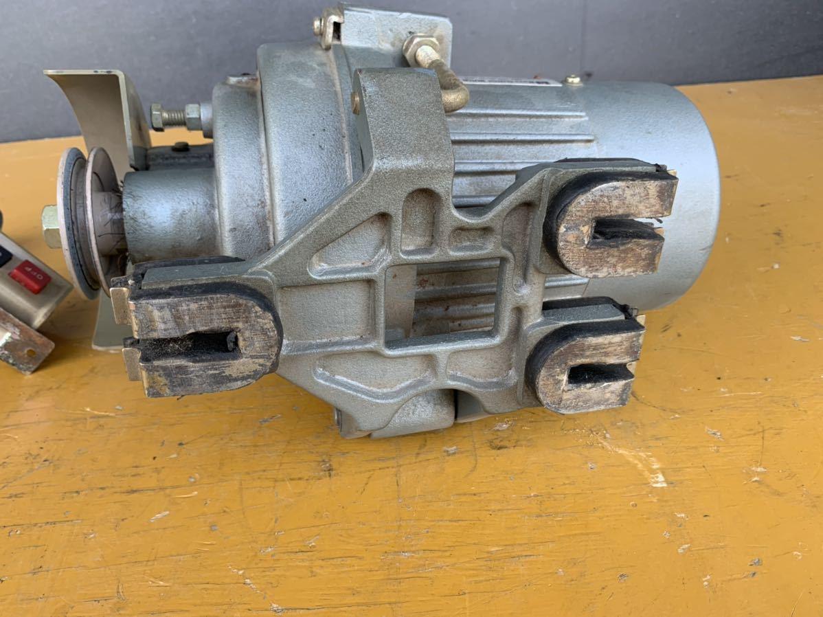 CLUTCH MOTOR クラッチモーター 職業用ミシン 工業用ミシン・ミシンモーター スイッチ 付 AC100V 200v_画像8