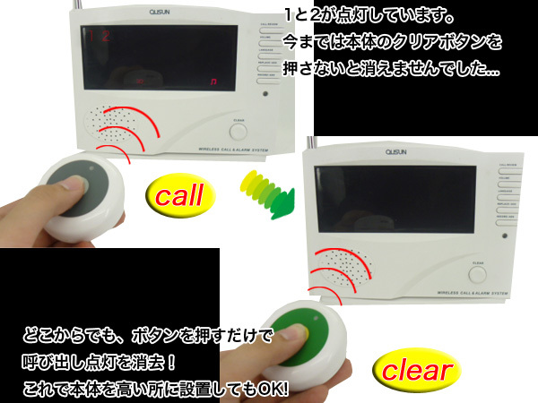 送料無料★ 人気★ クリア送信機 単品 コードレスチャイム ワイヤレスチャイム 呼び鈴 134_画像3
