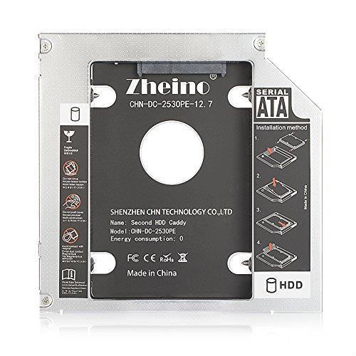 Zheino 2nd 12.7mmノートPCドライブマウンタ セカンド 光学ドライブベイ用 SATA/HDDマウンタよりCD/DVD CD ROM HDD CADDY に置き換えます_画像5