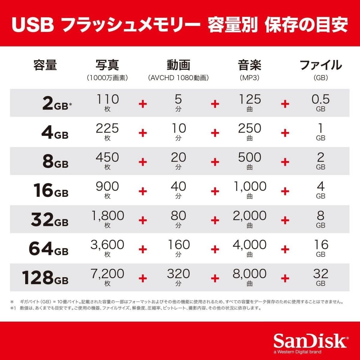 USBメモリー 32GB サンディスク
