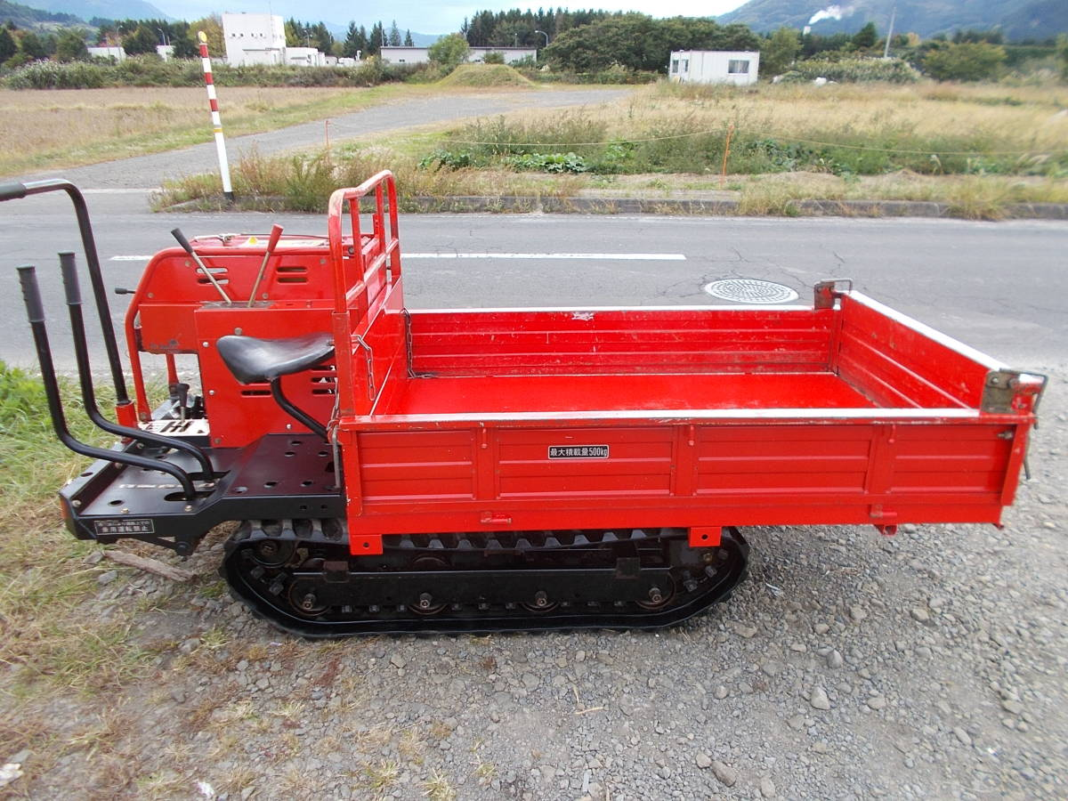 オガタ運搬車 AN-250LD 500㎏積み 乗用タイプ 油圧式ダンプ 快調です。弘前市より