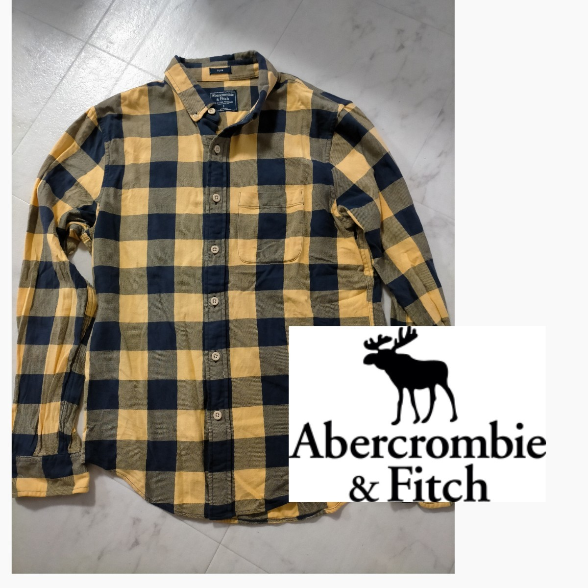 アバクロ  チェック柄 長袖シャツ チェックシャツ 美品 価格交渉OK