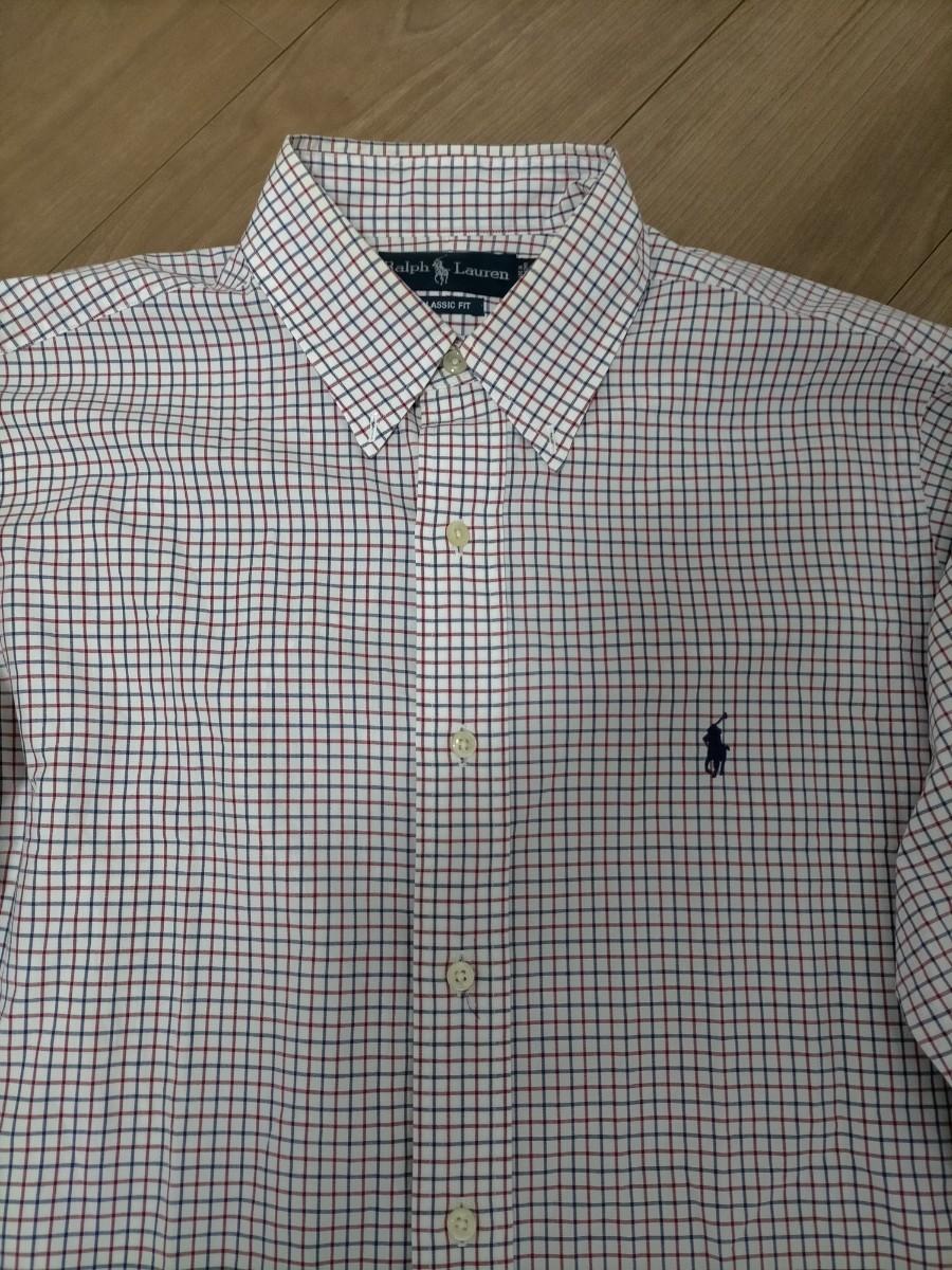 ラルフローレン 長袖シャツ チェック柄 ボタンダウンシャツ 美品 価格交渉OK