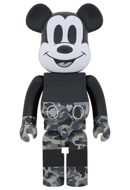 新品 未開封 BE@RBRICK BAPE MICKEY MOUSE MONOTONE Ver. 1000% MEDICOM TOY メディコム・トイ ベアブリック ミッキーマウス Disney _画像1