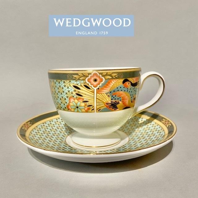 WEDGWOOD ウェッジウッド カップ ソーサー 花鳥柄 鳥 陶磁器 茶器 洋食器 ☆