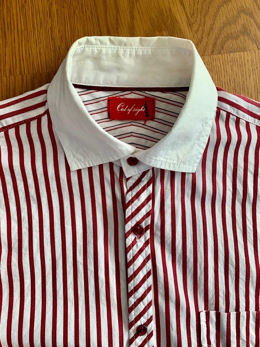 シャツ メンズシャツ 七分袖 七分シャツ M
