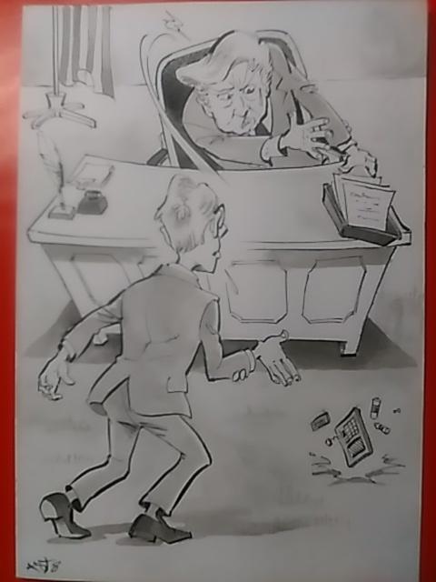 時事風刺漫画〔計算が狂った!〕           _原画アップ