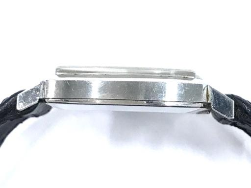313837 1円 オメガ Geneve ジュネーブ 手巻き 腕時計 スクエアフェイス 青文字盤 メンズ 稼働品 社外ベルト OMEGA_画像4
