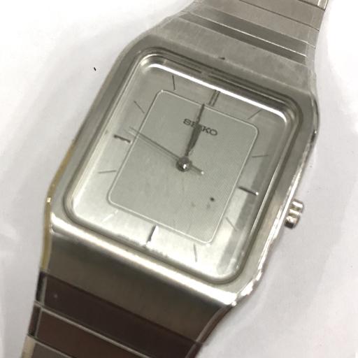 1円 セイコー 6030-5090 クォーツ 腕時計 スクエア 茶文字盤 シルバー 未稼働 他 ドルチェ 含む 計3点 セット SEIKO_画像3