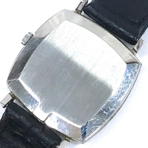 313837 1円 オメガ Geneve ジュネーブ 手巻き 腕時計 スクエアフェイス 青文字盤 メンズ 稼働品 社外ベルト OMEGA_画像2