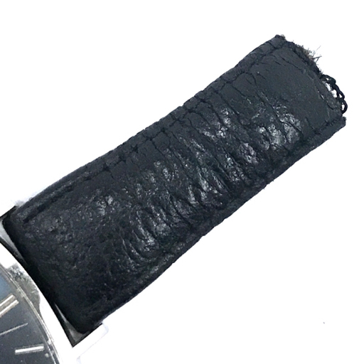 313837 1円 オメガ Geneve ジュネーブ 手巻き 腕時計 スクエアフェイス 青文字盤 メンズ 稼働品 社外ベルト OMEGA_画像5