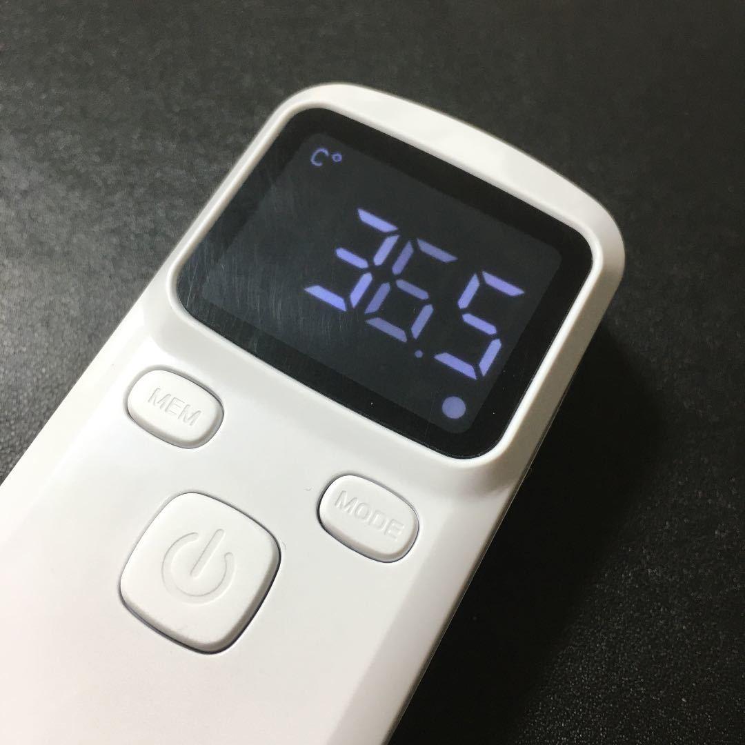 【新品】非接触型体温計 おでこ デジタル 非接触型物体温計 赤外線額物体温計 おでこ温度測定 デジタルディスプレイ 赤外線温度計_画像2