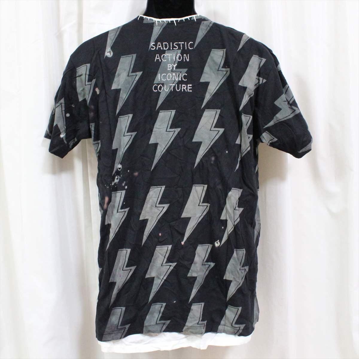 サディスティックアクション SADISTIC ACTION アイコニック ICONIC COTURE メンズ半袖Tシャツ AC/DC Lサイズ 新品_画像4