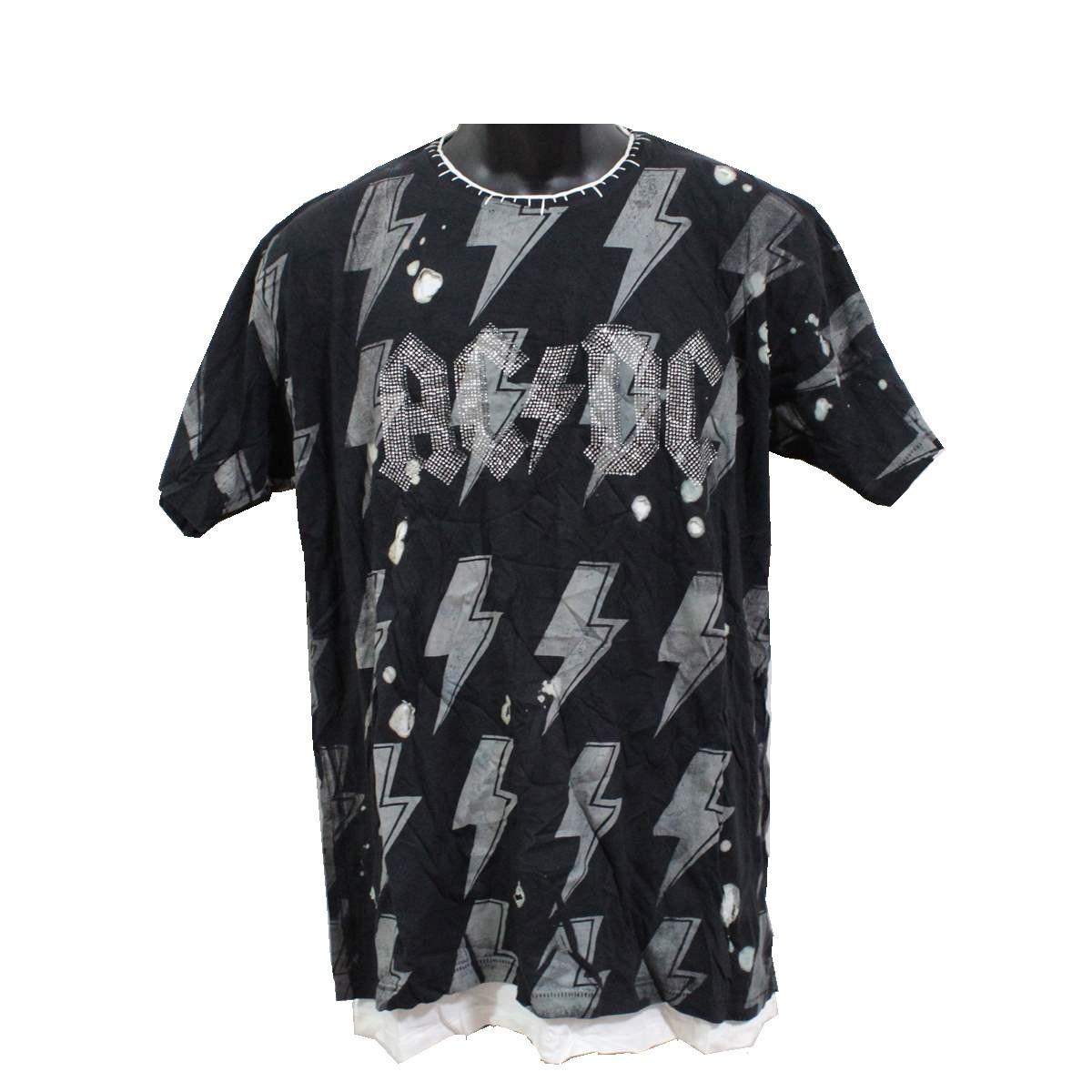 サディスティックアクション SADISTIC ACTION アイコニック ICONIC COTURE メンズ半袖Tシャツ AC/DC Sサイズ 新品_画像1