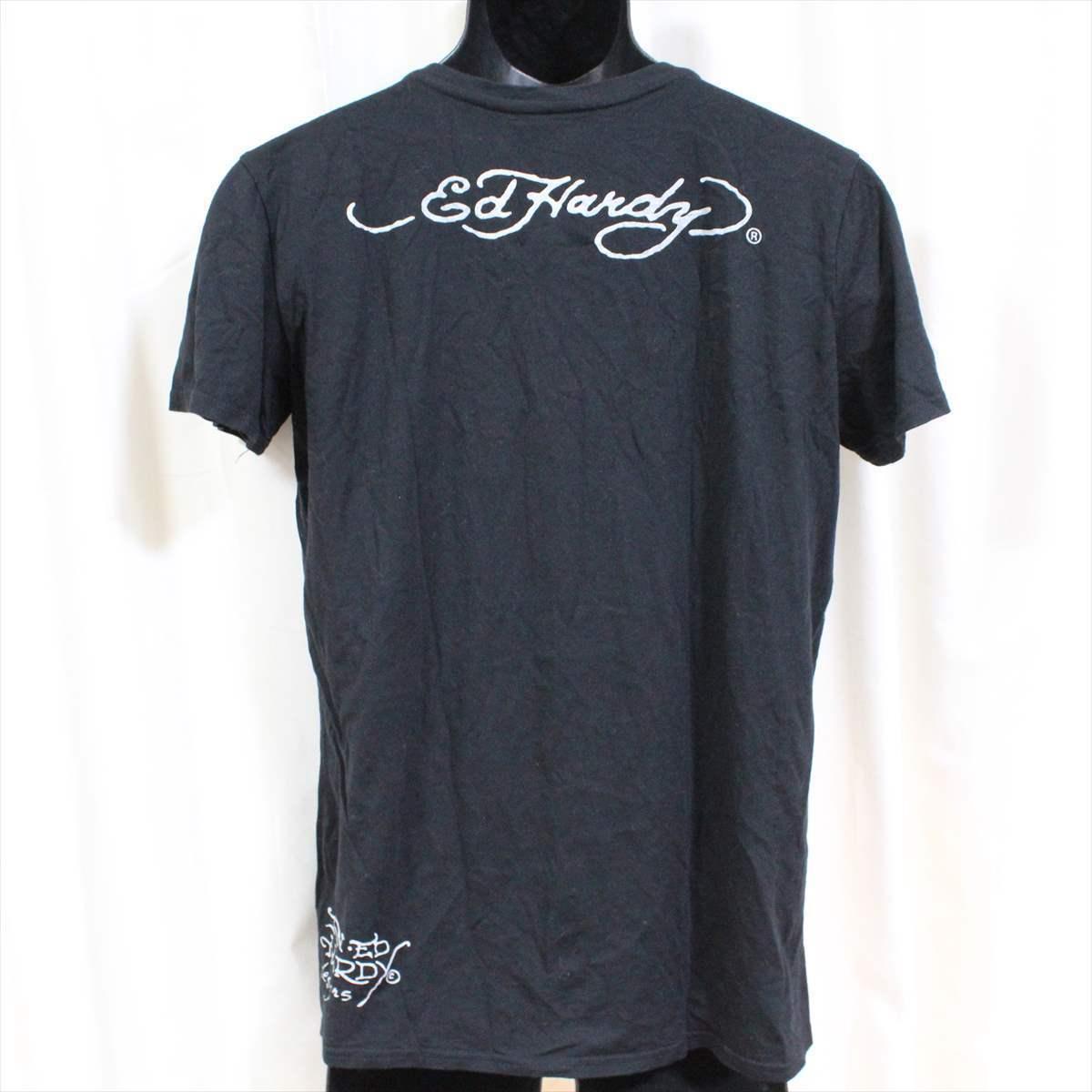 エドハーディー ED HARDY メンズ半袖Tシャツ Lサイズ HB103 ブラック 新品 黒_画像3