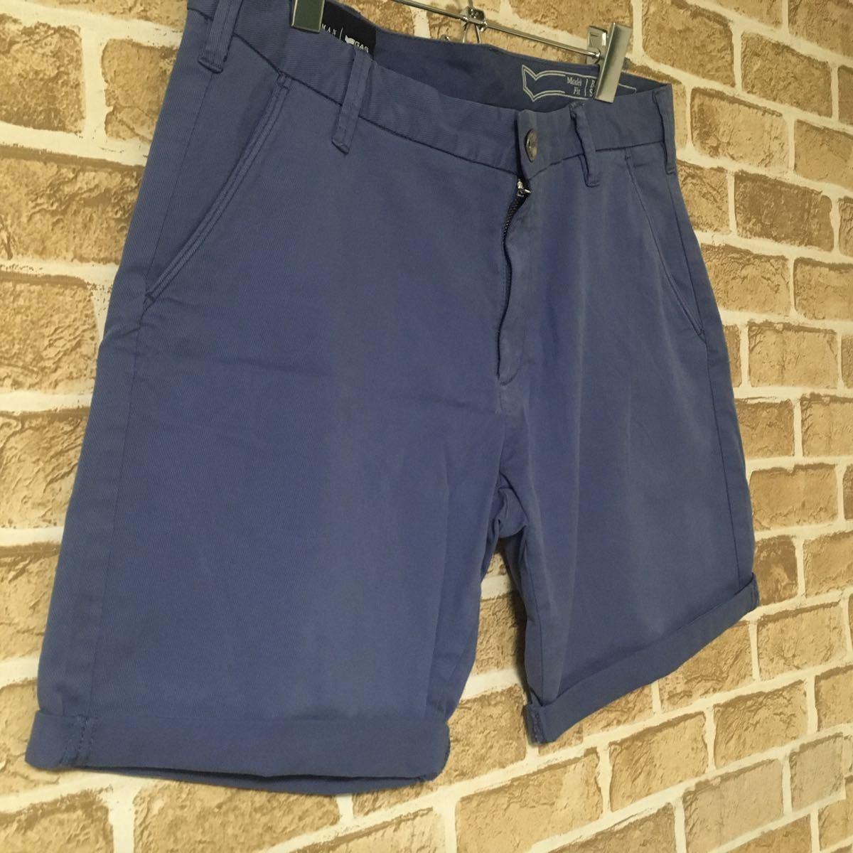 GAS ガス ショートパンツ メンズ パンツ チノパン スキニー 青系 新品 ハーフパンツ 大人カジュアル スリム カジュアル ロールアップ