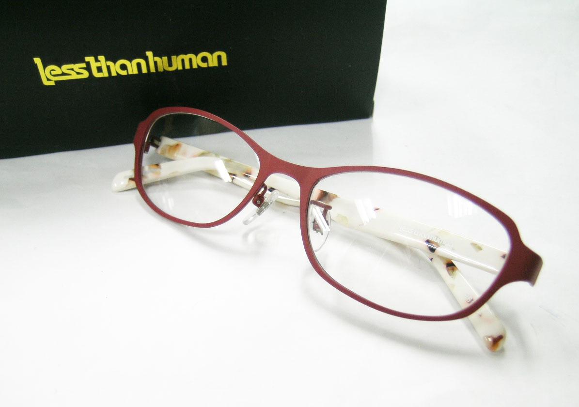 Less than human 正規品 眼鏡フレーム Lily 9610b マットブラウン 赤茶 × アイボリー_画像1