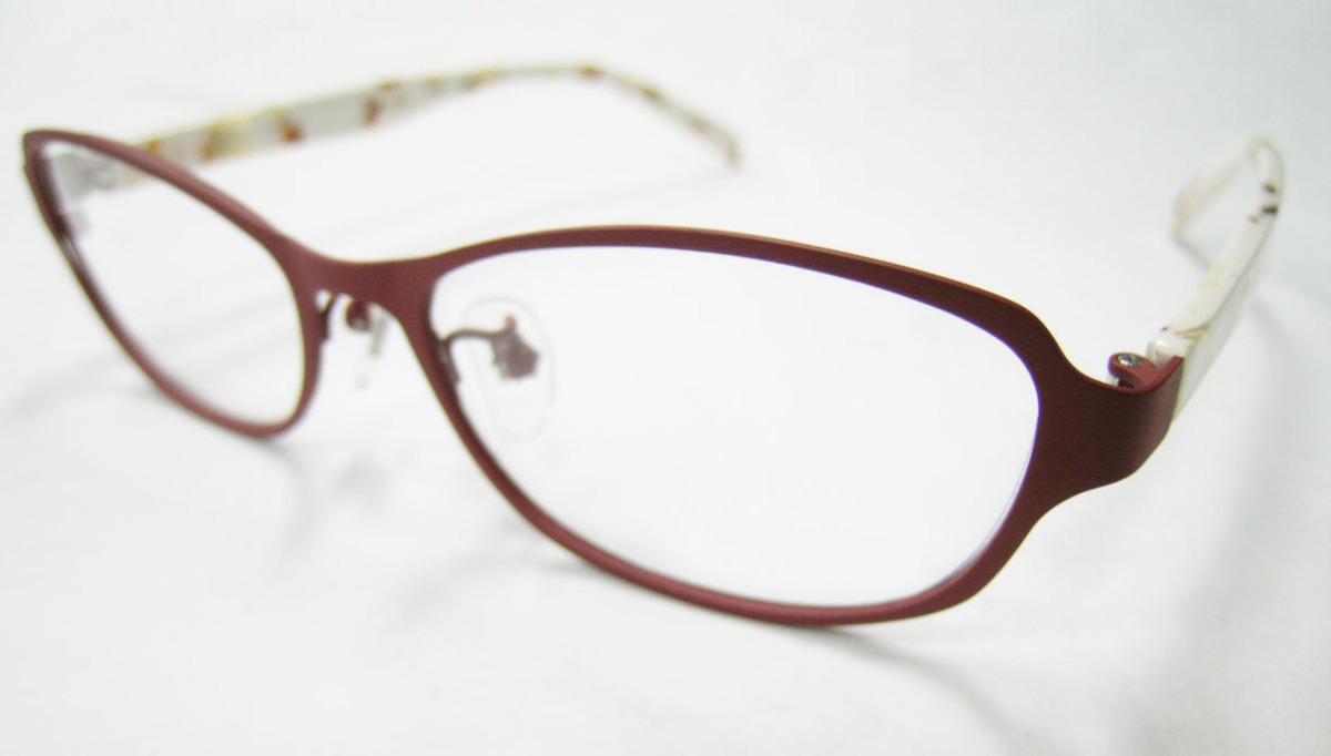 Less than human 正規品 眼鏡フレーム Lily 9610b マットブラウン 赤茶 × アイボリー_画像3