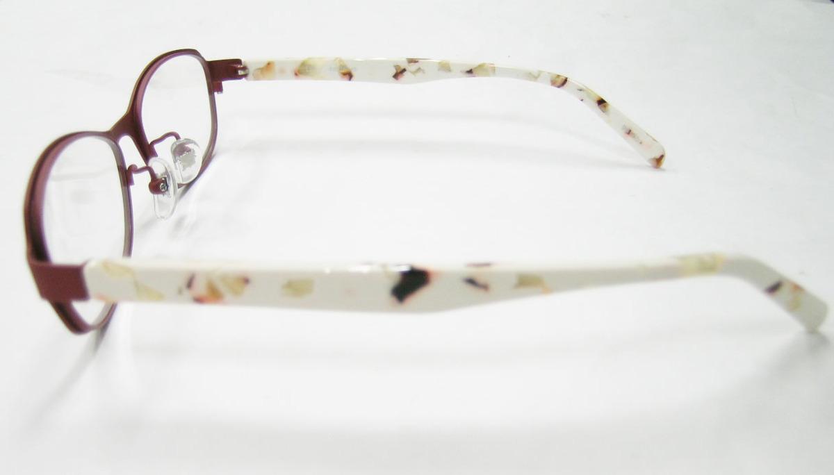 Less than human 正規品 眼鏡フレーム Lily 9610b マットブラウン 赤茶 × アイボリー_画像4