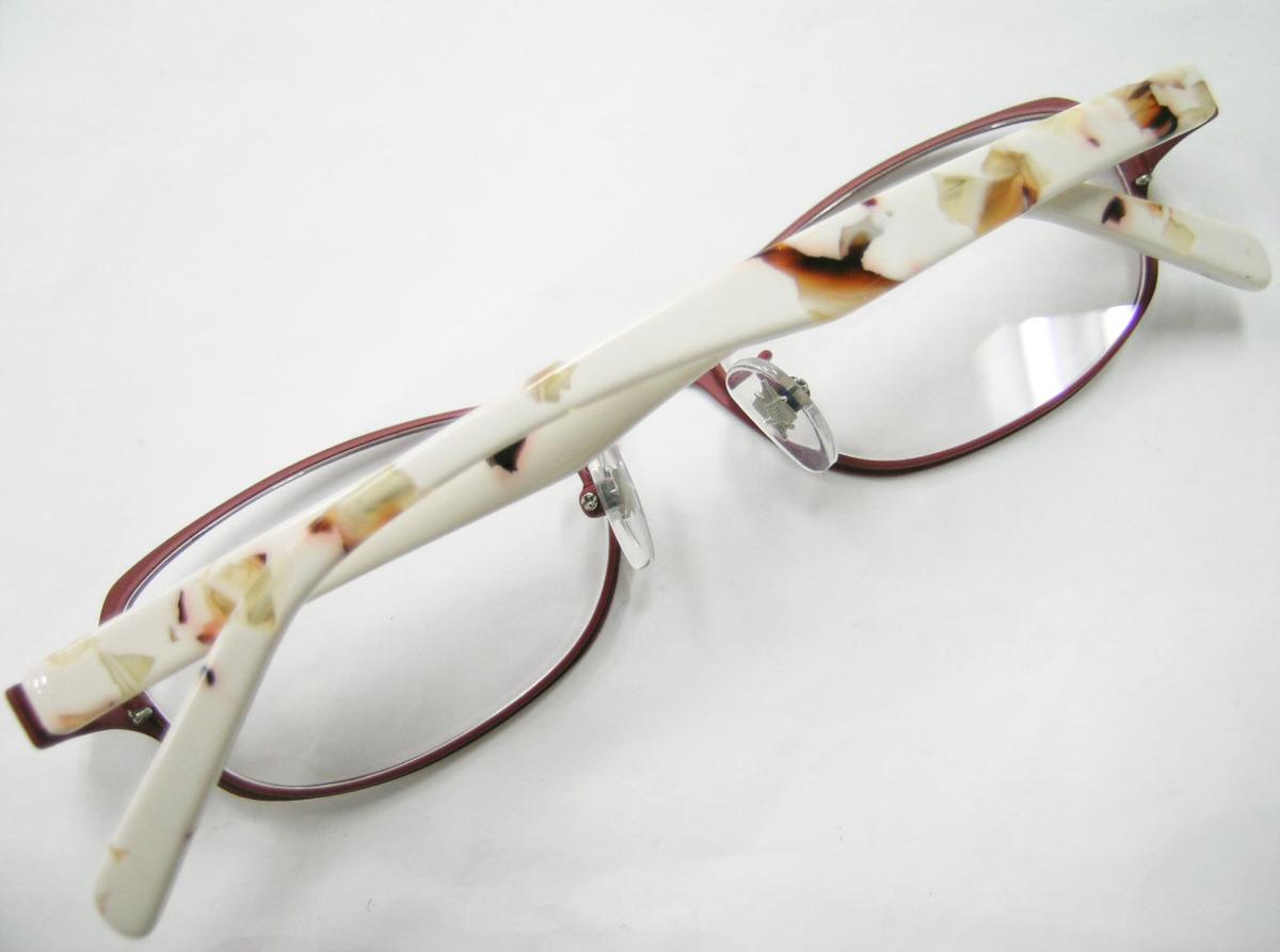 Less than human 正規品 眼鏡フレーム Lily 9610b マットブラウン 赤茶 × アイボリー_画像5