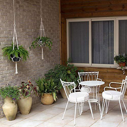 麻縄 植木鉢 屋外屋内植物ハンガーマクラメ プラントハンガー 観葉植物 吊り下げ ロープ ハンギングプランター 3種セット_画像6