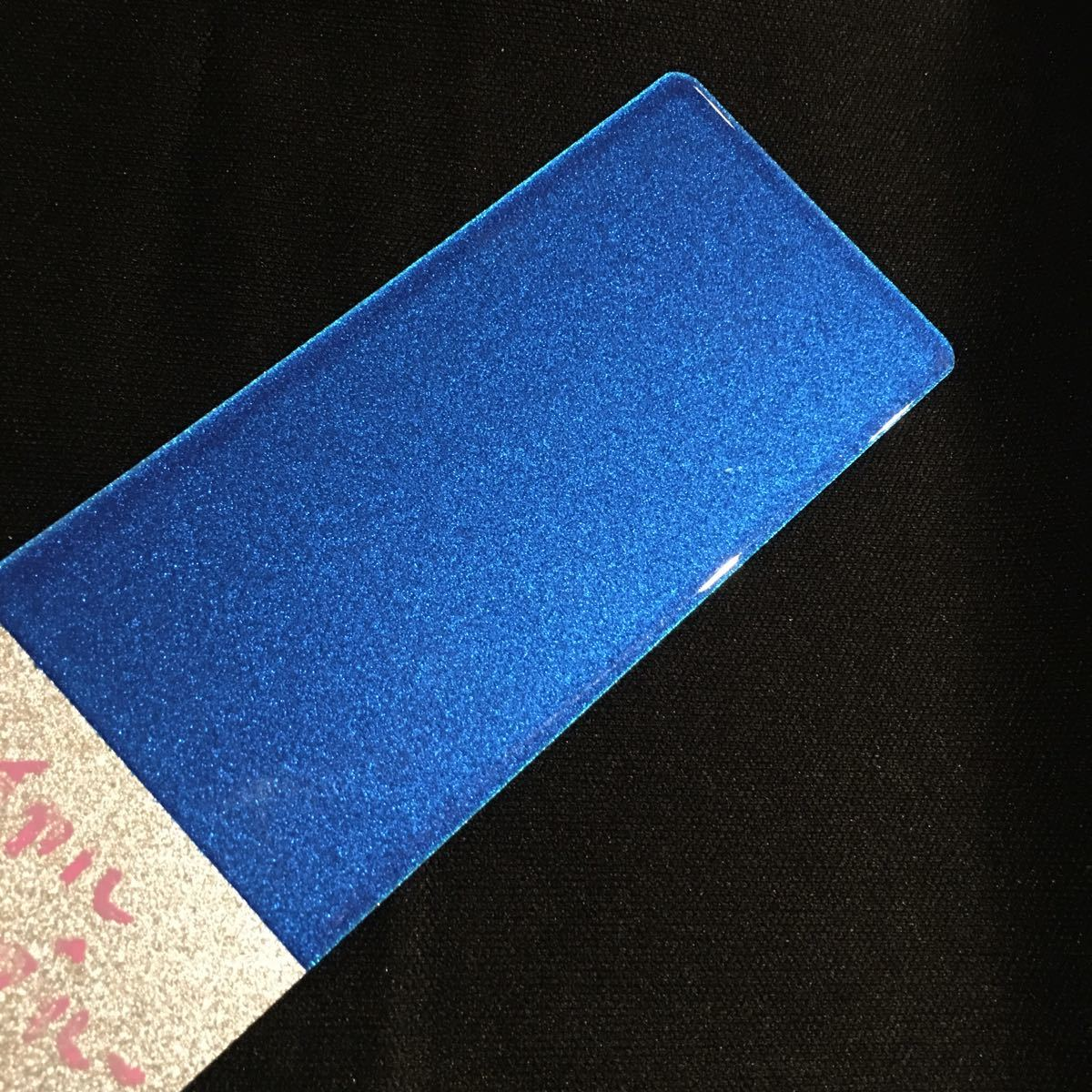 在庫処分★KMキャンディー ロイヤルブルー★耐候性がよく色褪せない 顔料タイプ キャンディー カスタムペイント フレーク ラメ 塗装_画像4