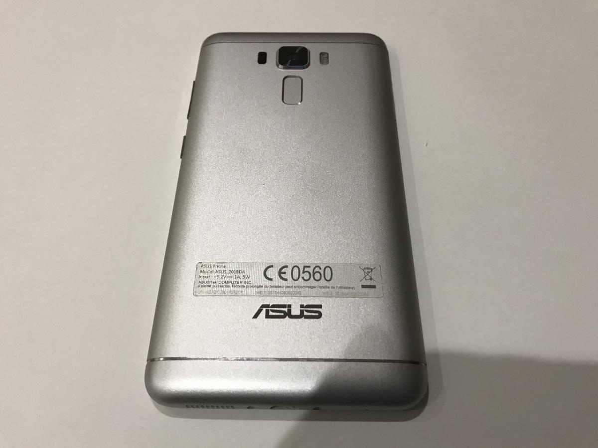 SIMフリー ASUS Z01BDA Zenfone3 Laser ZC551KL シルバー 中古本体 動作確認品 付属品(イヤホン(未使用)、充電器、ケーブル)+おまけ付_画像3