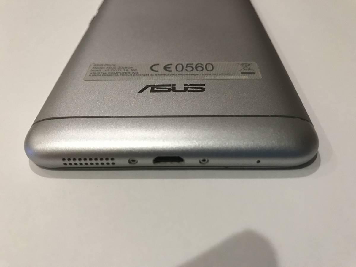 SIMフリー ASUS Z01BDA Zenfone3 Laser ZC551KL シルバー 中古本体 動作確認品 付属品(イヤホン(未使用)、充電器、ケーブル)+おまけ付_画像7
