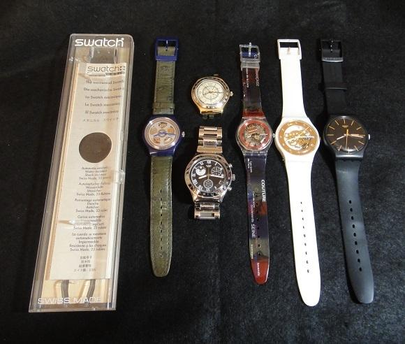 ★ Swatch automatic × 1 / Swatch QUAERTZ ×5 ◆ クォーツ 腕時計 / 電池交換済 ◆ まとめて 6個 【中古品】