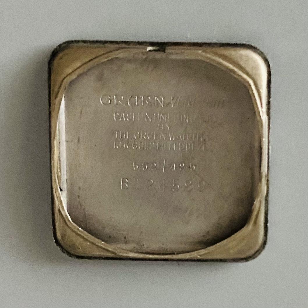 【アンティーク グリュエン】Gruen veri-thin 1940年代 スモセコ cal 425 17石 手巻き メンズ レディース ビンテージ 腕時計 スイス 訳あり_画像9