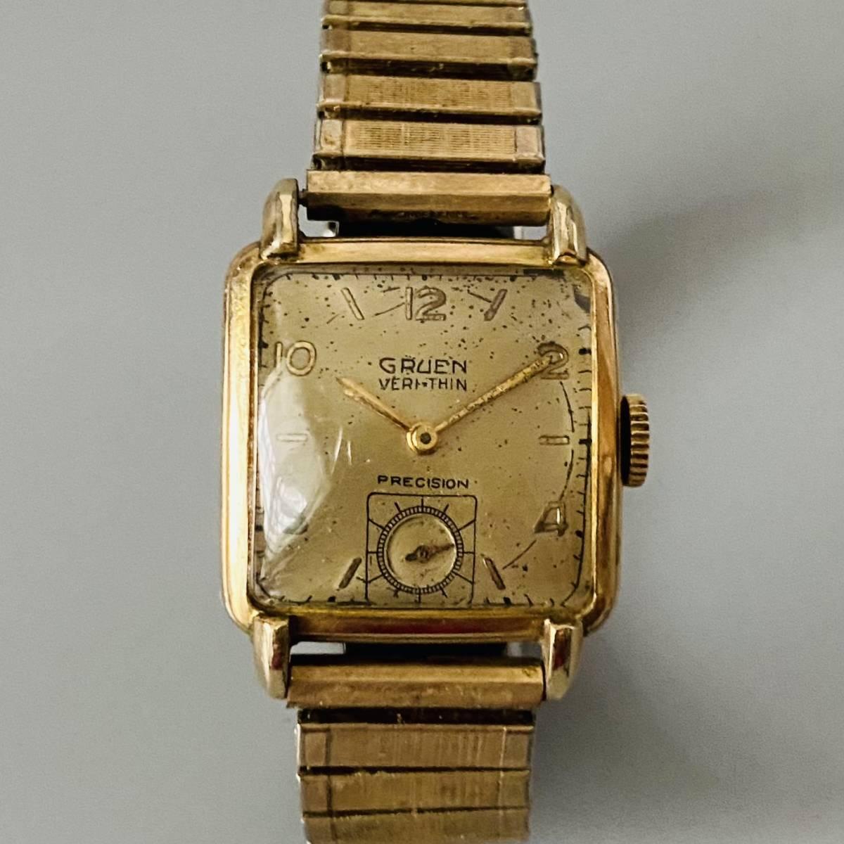 【アンティーク グリュエン】Gruen veri-thin 1940年代 スモセコ cal 425 17石 手巻き メンズ レディース ビンテージ 腕時計 スイス 訳あり_画像3