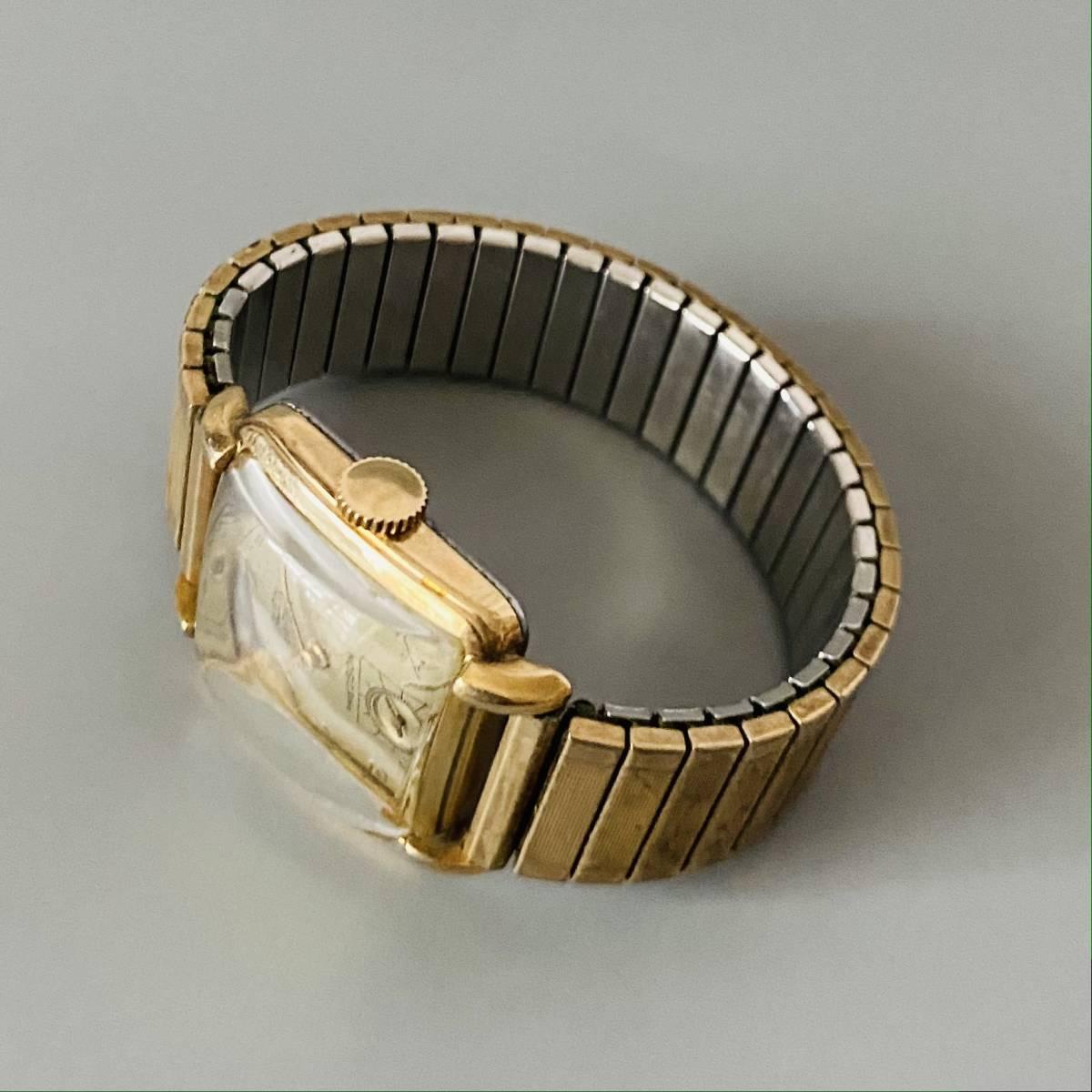 【アンティーク グリュエン】Gruen veri-thin 1940年代 スモセコ cal 425 17石 手巻き メンズ レディース ビンテージ 腕時計 スイス 訳あり_画像6