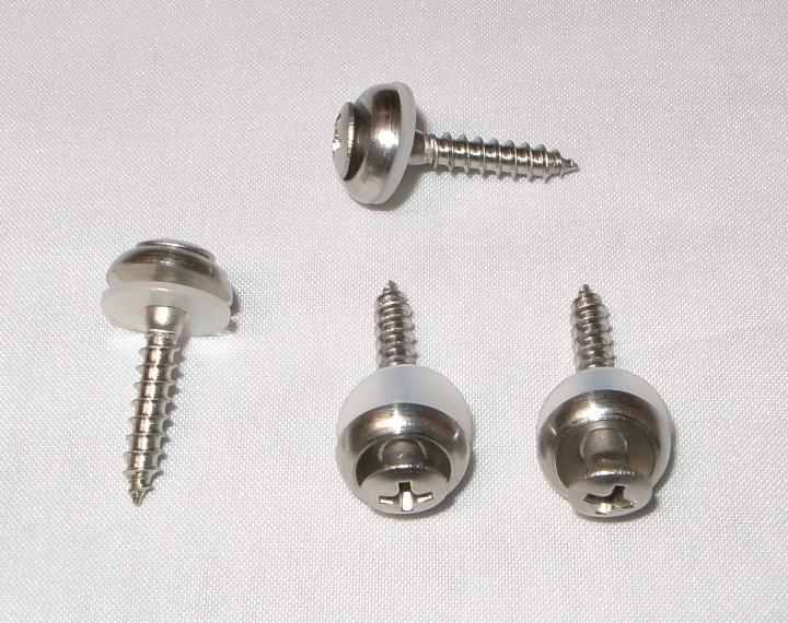 ML-1L,LNP-2L用ケースの止めネジ,4個一組,樹脂ワッシャ,ローゼット,丸皿木ネジ,新品,クリックポスト送料込み
