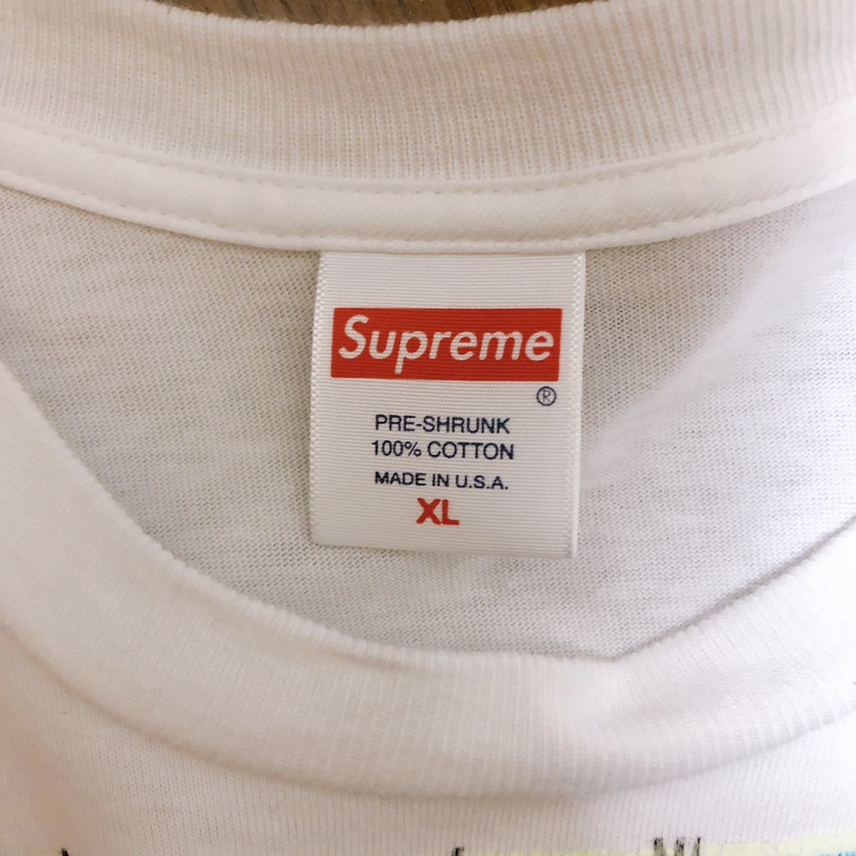 【新品 未着用】 choose me アリスマルチプリント T-shirt L Tシャツ Supreme 希少 白 不思議の国のアリス チェシャ猫プリントTシャツ_画像2