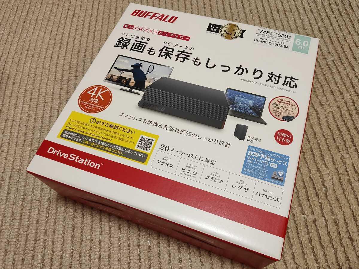 ■新品未開封■バッファロー 6TB HDD USB3.1 HD-NRLD6.0U3-BA■BUFFALO■