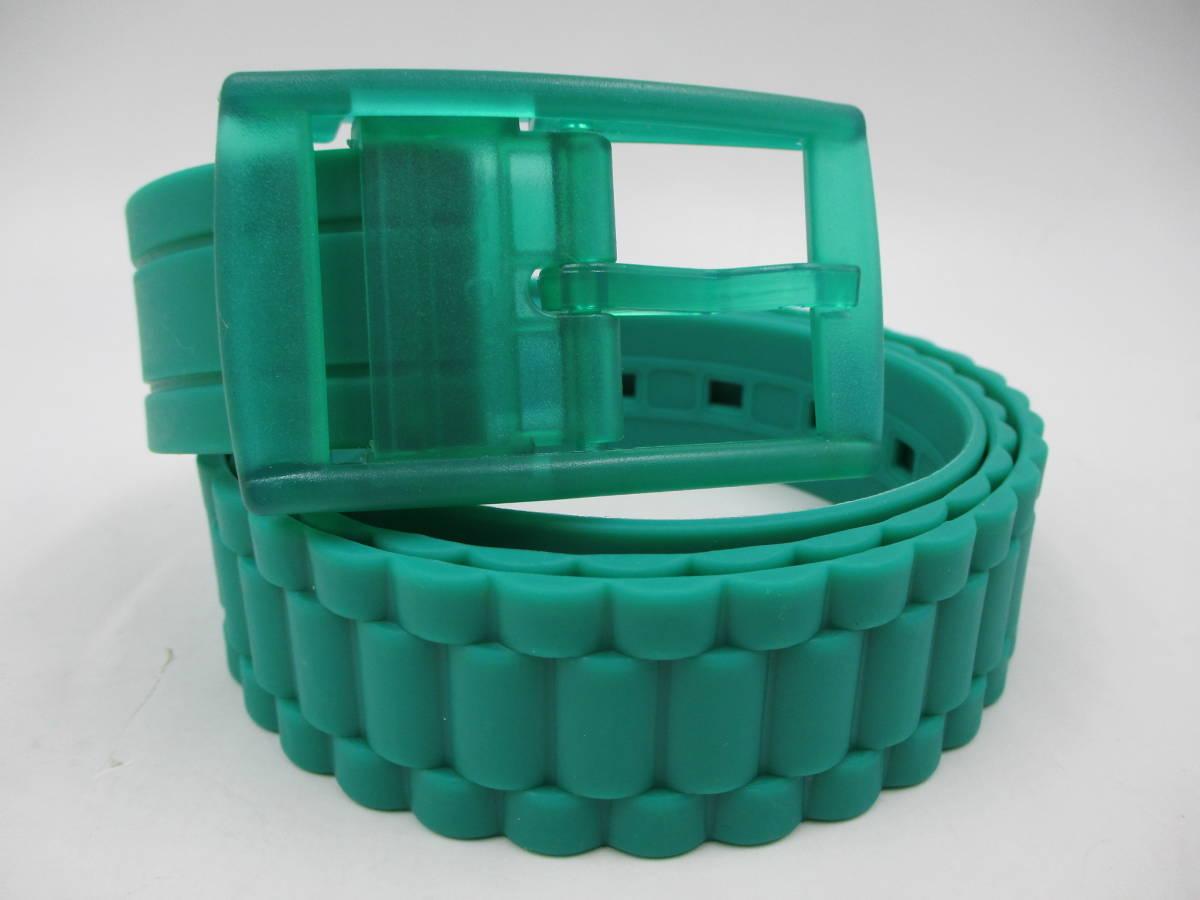 未使用 カスタマイズ シリコン ラバーベルト s ベルト2本+バックル6個を組み合わせて楽しむ 切断可 腰 ゴム カジュアル 差し色 送料無料_ラウンド柄。丸みのあるデザインです。