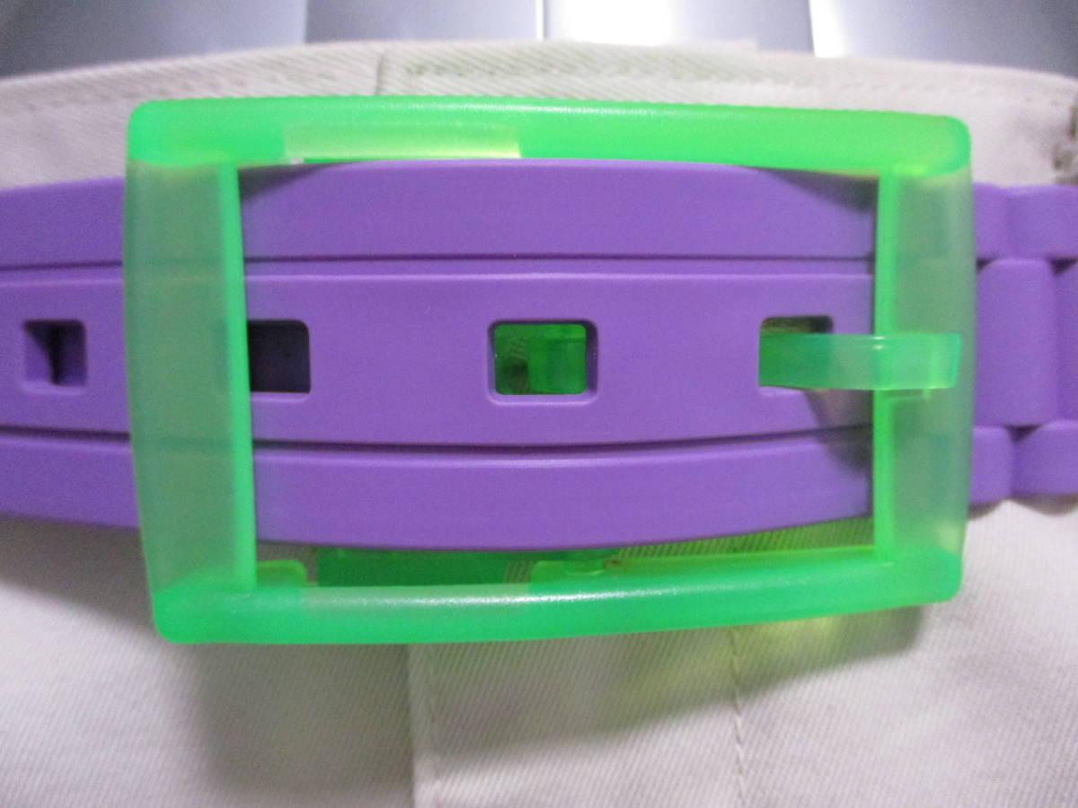 未使用 カスタマイズ シリコン ラバーベルト s ベルト2本+バックル6個を組み合わせて楽しむ 切断可 腰 ゴム カジュアル 差し色 送料無料_ご利用例(色違い・撮影用)参考にどうぞ