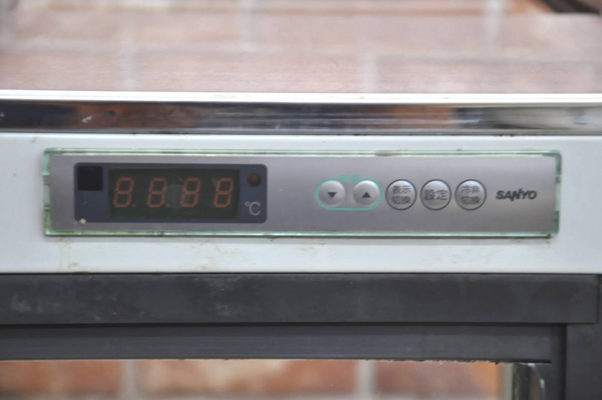 ★☆*G132 SANYO サンヨー 対面冷蔵ショーケース TG-TEC4C 168L W1135×D550×H1010 スーパーショーケース ケーキ 業務用 厨房 店舗☆★_画像5