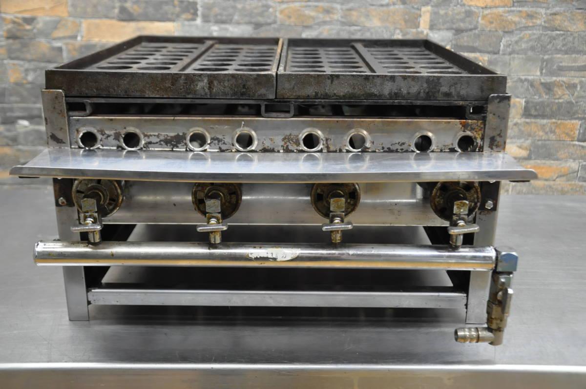 ♪♪V004 たこ焼き機 φ4.5cm 32個×2連 都市ガス 業務用 厨房 飲食店 イベント 祭り 屋外 動作確認済み♪♪♪_画像8