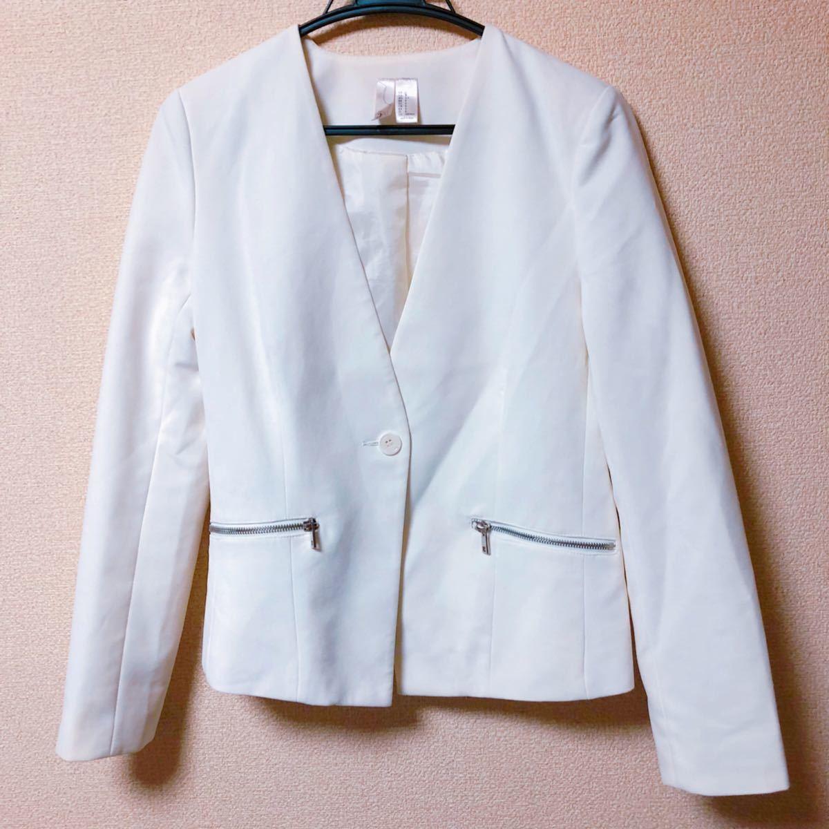 テーラードジャケット ホワイトジャケット カーディガン ブレザー スーツ